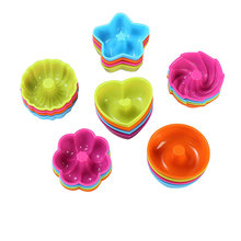 24pcs/set Silicone Various Shape Cupcake Cute Practical  Molds Donut Mold Kitchen Accessories