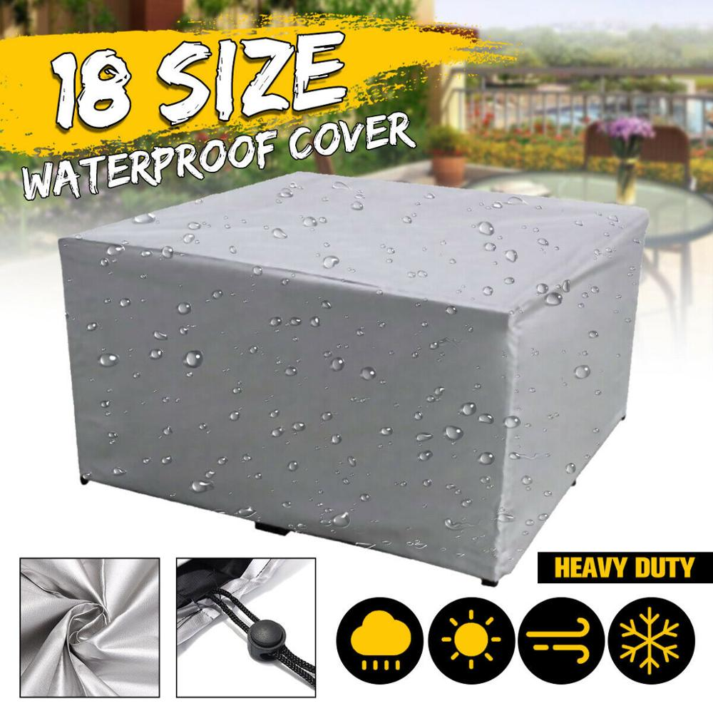 18 Size Garden Patio Outdoor Furniture Cover Waterproof Table Garden Set Protective Cover For Outdoor Furniture Covers Rain 190T
