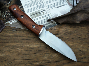 LCM66 hunting straight knife tactical knifeFixed Knives,steel head+solid wood handle Survival Knife,Camping Rescue Knife tools 3