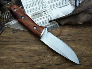 Image 3 - LCM66 hunting straight knife tactical knifeFixed Knives,steel head+solid wood handle Survival Knife,Camping Rescue Knife tools