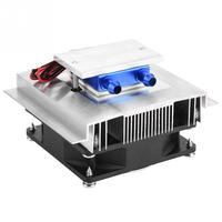 50W DIY Thermoelectric Cooler Cooling System Semiconductor Refrigeration System Kit Heatsink Peltier Cooler for 15L Water