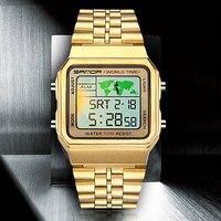 SANDA Digitale Uhr Männer Mode Uhren Top Marke Luxus Elektronische Alarm 50M Wasserdicht Military Armbanduhr Relogio Masculino