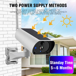 New Wireless WiFi Solar IP Camera 1080P HD Security Monitor Audio Waterproof for Outdoor DOM668