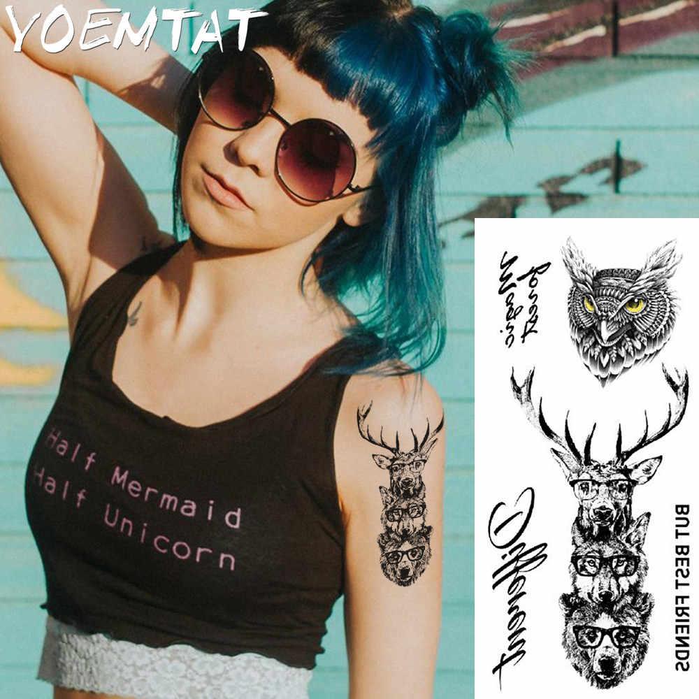 1 pièce fantaisie couleur Lion tigre léopard renard chaud grand animal temporaire tatouage étanche tatouage autocollant pour femmes hommes