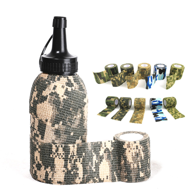 Outdoor 4.5*5cm Tape Military Camo Tapes Waterproof Camouflage Wrap Water Gun Stretch Bandage Tools