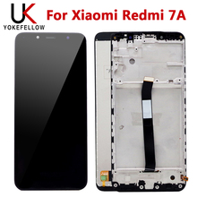 цена на New 100% Tested LCD For Xiaomi Redmi 7A LCD Display Screen With Touch Screen Sensor Complete Assembly With Frame Free Shipping