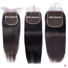 Great Grace 4x4 5x5 6x6 Lace Closure Swiss Silky Straight Human Hair Remy Malaysian Hair Pre Plucked Lace Closures