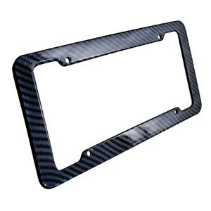 Car Carbon Fiber Style License Plate Frames Front & Rear Universal For Toyota Honda Ford Buick Chrysler Nissan Car Accessories