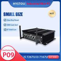 Cortafuegos PFsense Mini PC Celeron 3865U Core i5 7267U 6 LAN Windows 10 Pro Linux 2955U tarjeta SD DDR3 ranura SIM diminuto Router ordenador
