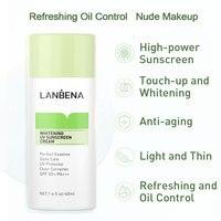 LANBENA Green Whitening Uv Sunscreen Cream Face Sunblock Body Sun Protection Solar Lotion SPF50+ Moisturizing Daily Care 40ml 2