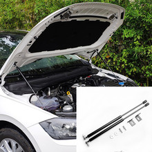 Dla VW Polo 2019 2020 AW MK6 zamontować klapa maski sprężyna gazowa Shock Lift Strut bary wsparcie Hraulic Rod samochód stylizacji tanie tanio WMYFC For VW Polo Iso9001 STAINLESS STEEL Decoration and insurance Chrom stylizacja