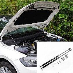 Dla VW Polo 2019 2020 AW MK6 zamontować klapa maski sprężyna gazowa Shock Lift Strut bary wsparcie Hraulic Rod samochód stylizacji w Chromowane wykończenia od Samochody i motocykle na