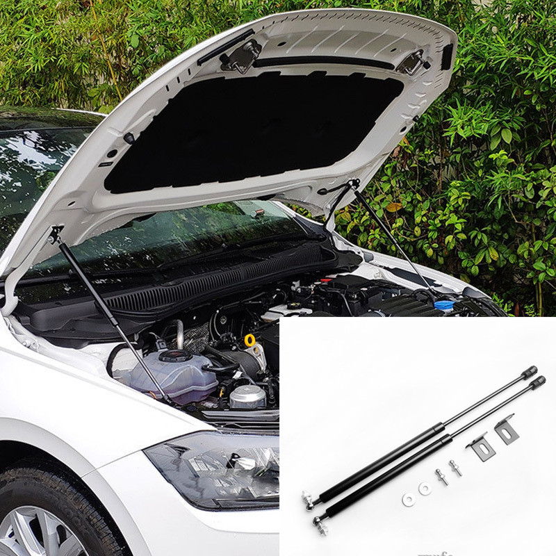 For VW Polo 2019 2020 AW MK6 Refit Bonnet Hood Gas Spring Shock Lift Strut Bars Support Hraulic Rod Car styling|Chromium Styling| |  - title=