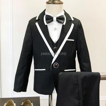2020 Boys Gentleman Wedding Suit Children Ceremony Costume Kids Birthday Party Dress Suit Blazer+Vest+Pant 3pcs Clothing Set фото