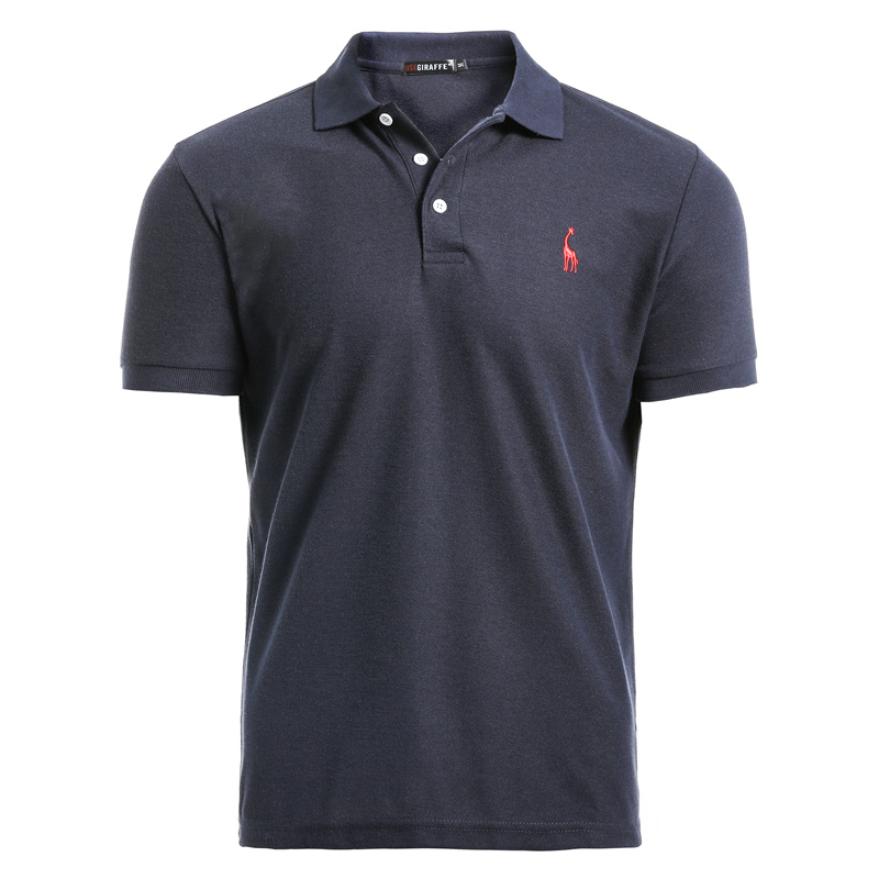 NEGIZBER New Man Polo Shirt Mens Casual Deer Embroidery Cotton Polo shirt Men Short Sleeve High Quantity polo men(China)