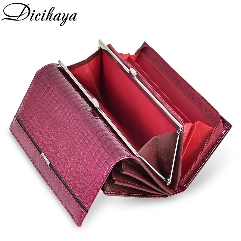 DICIHAYA Brand Wallet Women Genuine Leather Lady Purses High Quality Ladies Clutch Wallet Long Female Wallet Carteira Feminina