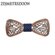Новый дизайн милый детский деревянный галстук бабочка для мальчиков