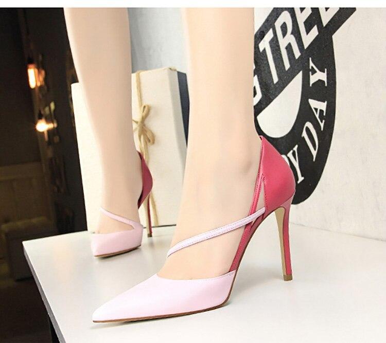 stiletto sapatos femininos bomba básica moda feminina