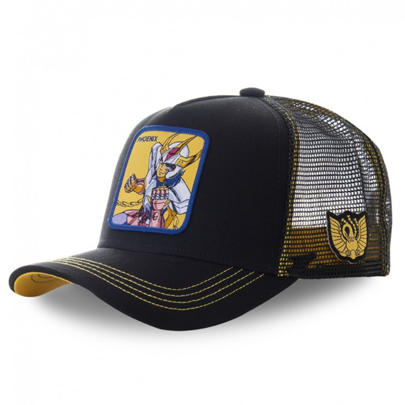 capslab-saint-seiya-phoenix-black-and-yellow-cap