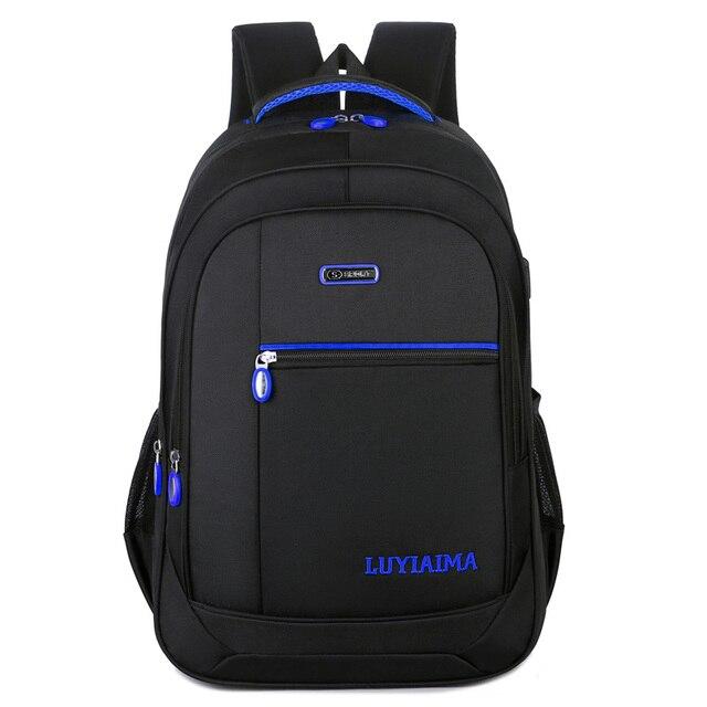 Men's backpack Unisex Waterproof Oxford 15 Inch Laptop Backpacks Casual Travel Boys Student School Bags Large Capacity Hot Sale 4