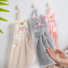 1 шт. носовой платок в виде мультяшной свиньи кухонные принадлежности вышивка мягкое полотенце для рук для дома в Корейском стиле настенное ...