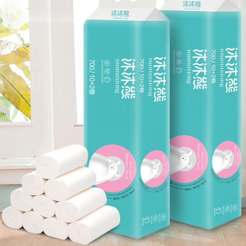 12 Rolls Silky, Smooth Soft Professional Series Premium Home Toilet Paper, Kitch C1FF