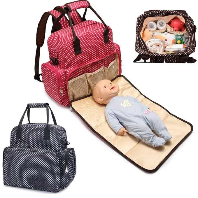 Diaper Bag Baby Care Mom Backpack Handbag Travel Waterproof Anti-fouling Backpack Large Capacity Fashionable Car Bag Bottle Bag