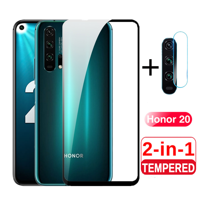 2 in <font><b>1</b></font> <font><b>3D</b></font> Protective Glass on for Honor 20 Pro Camera Glass Protector for Huawei Honer 20 Pro YAL-21 YAL-41 Honor20 20 Pro Films image