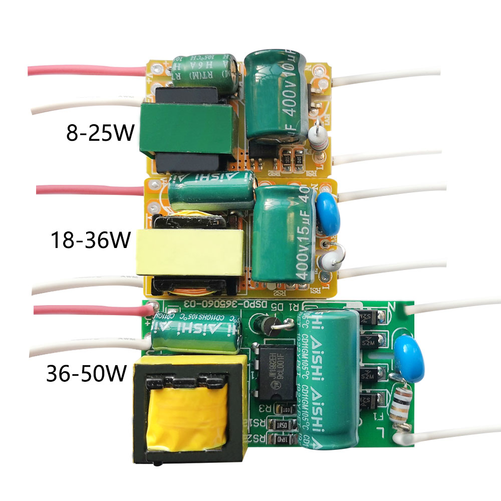 8W 18W 25W 36W 50W 300mA LED Driver 60W 80W 600mA Constant Current Light Transformer AC175-265V Power Adapter For LED Bulb DIY