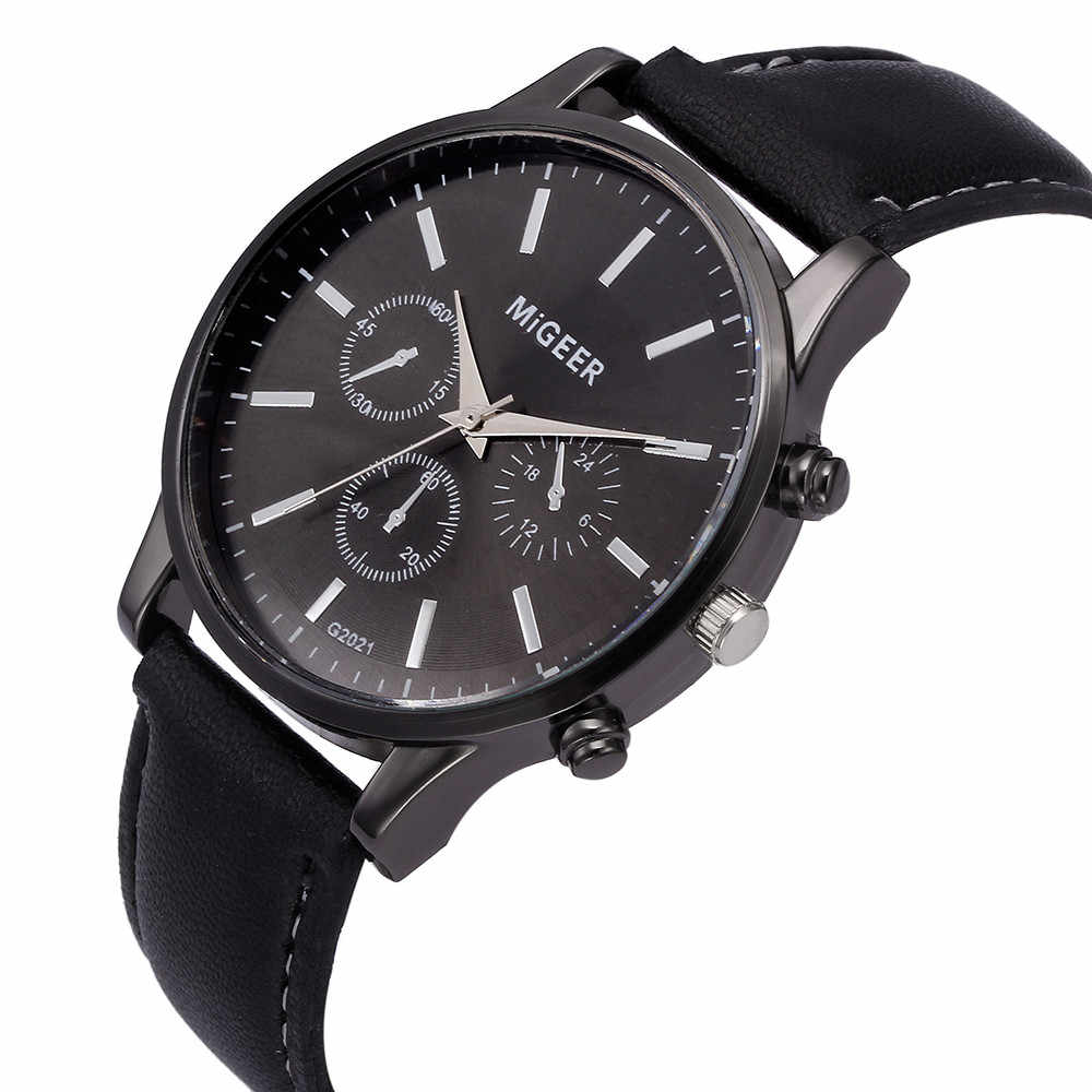 Luxe merk ultra dunne horloge mannen klok man horloge Retro Design Lederen Band Analoge Alloy Quartz Horloge mannen horloge 03 *