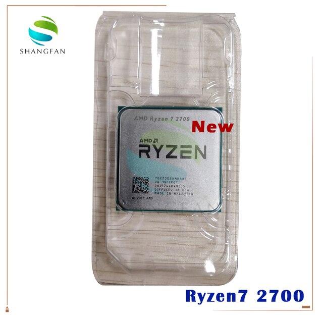 חדש AMD Ryzen 7 2700 R7 2700 3.2 GHz שמונה ליבות Sinteen חוט 16M 65W מעבד מעבד YD2700BBM88AF שקע AM4