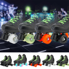 Skating-Shoes Roller-Skates Quad-Sneakers 4-Wheels Microfiber Adult Women NEW Pu 5-Choice