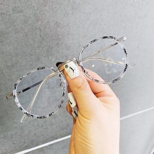 Anti Blue Light Round Frame Eyeglasses TR90 Optical Glasses Frame Computer Glasses Retro Eyewear for Student Office Home