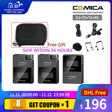 Microphone-W COMICA Boomx Wireless Camera Mini Mono/stereo-Switchable for XD Digital