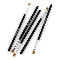 Happy Makeup-pincel plano angulado inclinado para cejas, delineador de ojos, sombra de ojos, herramienta de maquillaje profesional para mujeres, 5 uds.