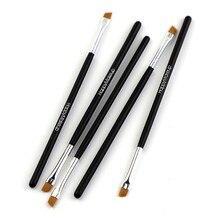 Happy Makeup — 5 brosses à maquillage noires pour femmes, angle incliné, eye-liner, sourcils, ombre à paupières, accessoires cosmétiques professionnels