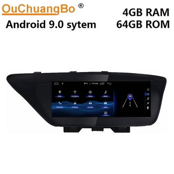 Ouchuangbo car radio recorder multimedia for ES ES250 350 2013-2018 with 10.25 inch android 9.0 system 4GB RAM 64GB ROM