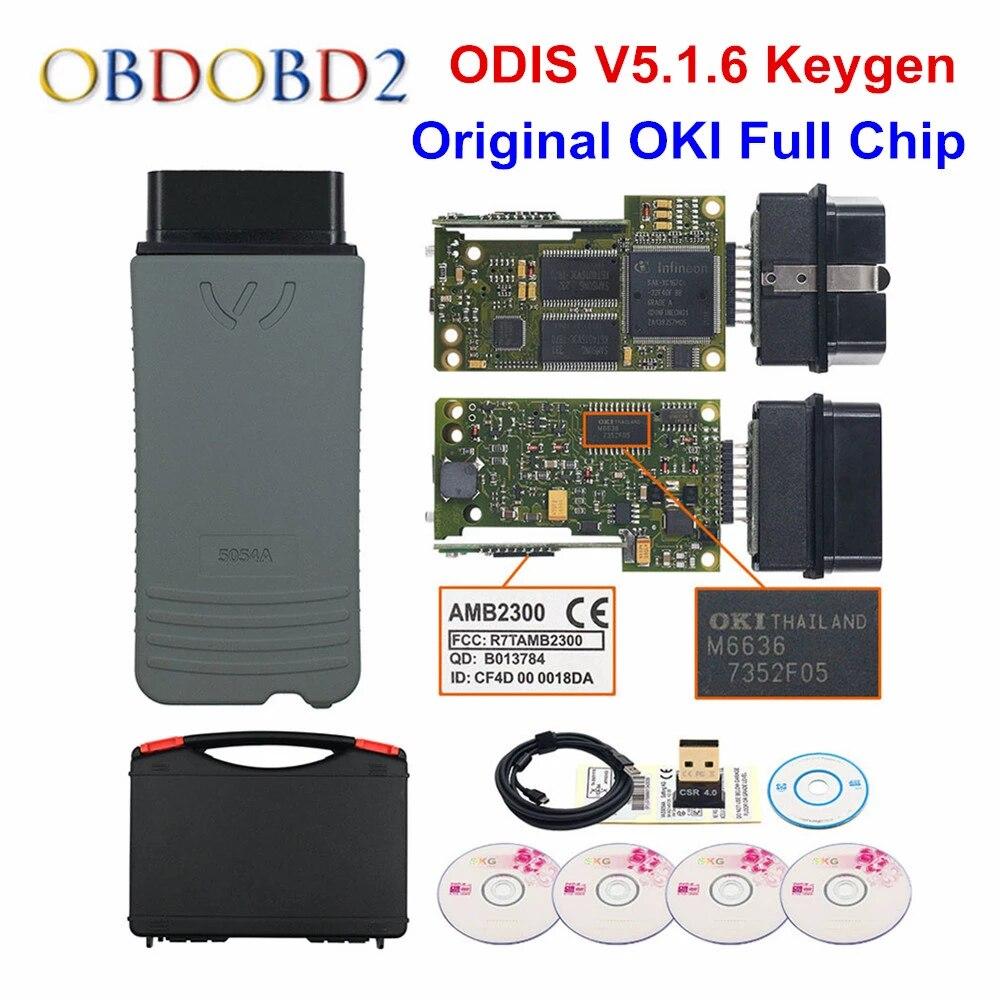 Original OKI 5054A ODIS 5 1 6 Keygen Bluetooth AMB2300 5054 Full Chip Support UDS 6154 V5 1 6 WIFI Car Diagnostic Tool