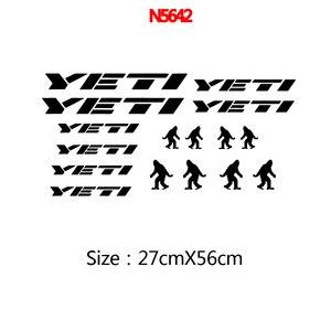 Виниловые наклейки для велосипедов YETI, велосипедов, рамок, вилок, горных велосипедов, BMX 58LN, художественный Декор Наклейки на автомобиль      АлиЭкспресс