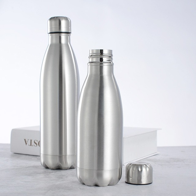 1000ml Sports Stainless Steel Water Bottle Single Wall Hot Cold Water Cola Bottle Insulated Vacuum Flask for Kids School 4