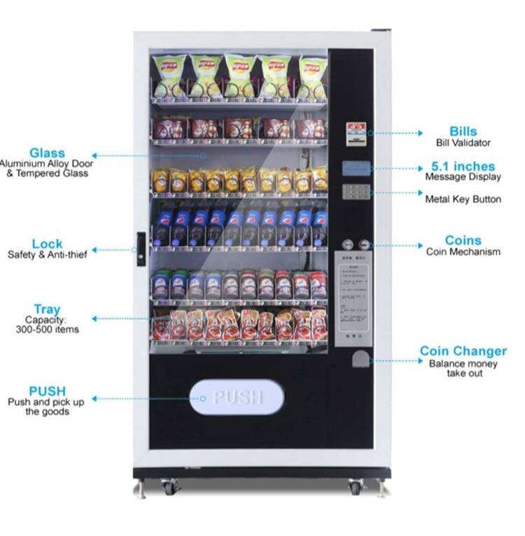 5% Discount Multifunction Vending Machine Snack/cold Beverage Vending Machine Drink Vending Machine