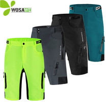 WOSAWE Mens Cycling Shorts Summer Sports Clothing Water Resistance Breathable Bicycle Loose Fit Downhill Bike Riding MTB