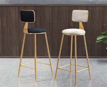 цена на 3pcs/lot Nordic Iron High Stool Bar Stools Modern Minimalist Home Backrest Dining Chair Cafe Bar Stool Bar Stool