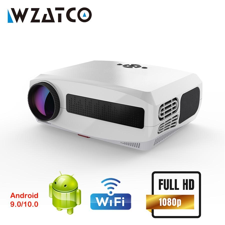 WZATCO C3 Android проектор WIFI Full HD 1080P 300 дюймов Proyector 3D домашний кинотеатр Смарт видео проектор Поддержка 4D цифровой Keystone