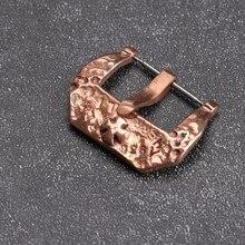 Kupfer Farbe Bronze Schnalle 20 22 24MM Kreuz Metall Schnalle Libelle Uhr Zubehör Schnalle, hand-Made Meteorit Polieren