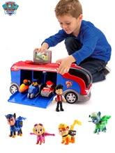 Figuras de acción de la Patrulla Canina para niños, juguetes de Modelo de la Patrulla Canina, autobús de rescate