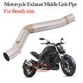 Без шнуровки Moto Escape система мотоцикла выхлопная средняя звеньевая труба из нержавеющей стали модифицированная для Benelli 502c Eliminator Enhanced