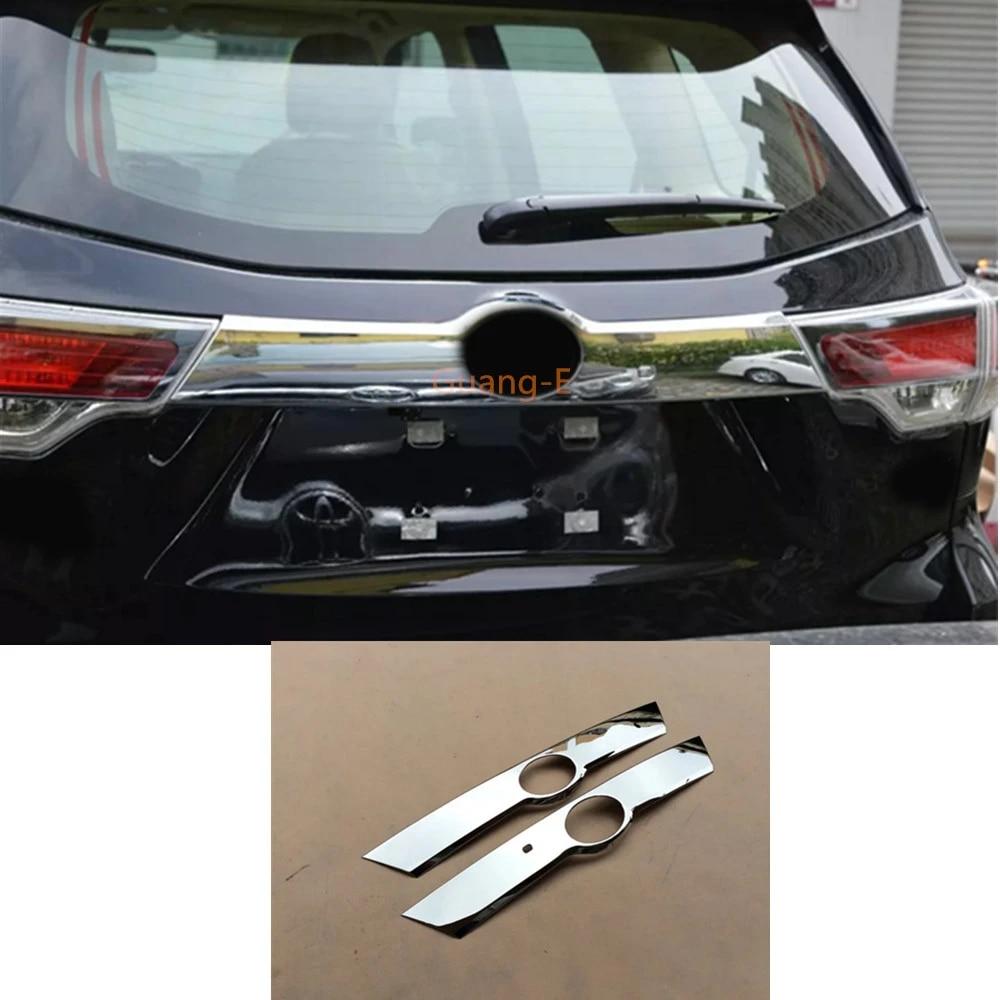 Chrome Trunk Rear License Plate Frame Cover Trim for Toyota Highlander 2015-2017