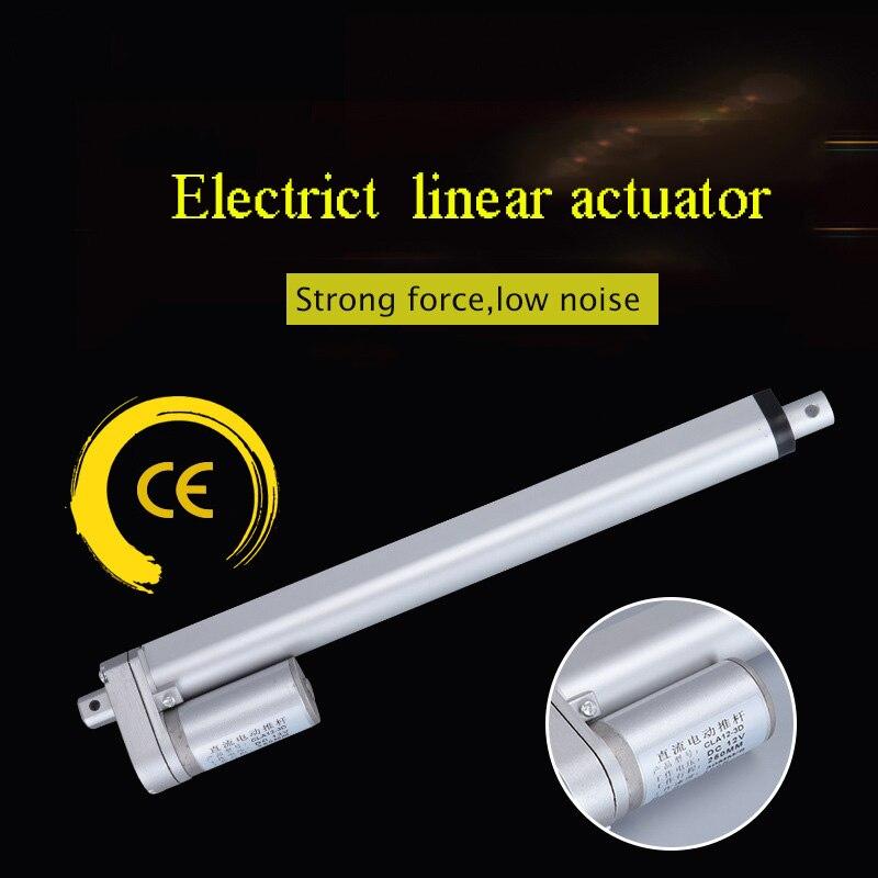 Электрический линейный привод 12 в 50 мм 300 мм 400 мм 500 мм металлический двигатель постоянного тока ход линейный ход трубчатый двигатель для ме