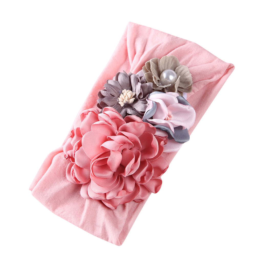 TELOTUNY Newborn Baby Headband Kid Princess Hair Band Nylon Stitching Flower Baby Hair Accessories Baby Hair Band Accessories